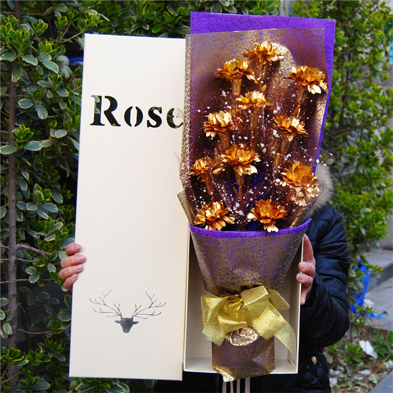 Buy Gold Carnation Soap Flower Bouquet Cartoon Gift Practical Birthday For Her Mother To Send Christmas Gifts In Cheap Price On Malibaba