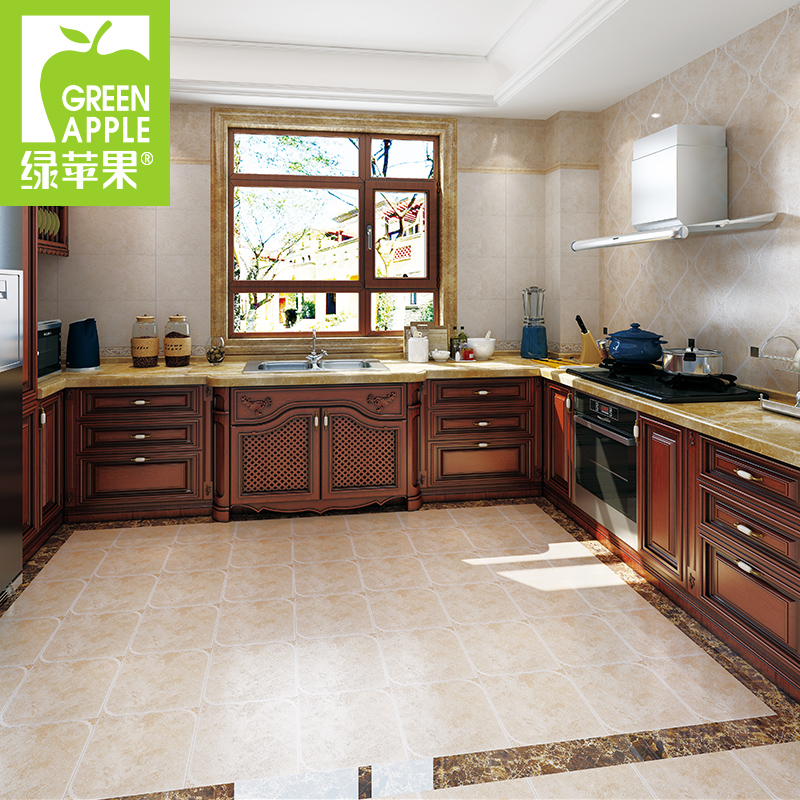 Buy Green Apple Antique Bathroom Tile Kitchen Floor Tiles Brick Tile Kitchen Tile Floor Tiles 300600 Skid Tiles In Cheap Price On Alibaba Com