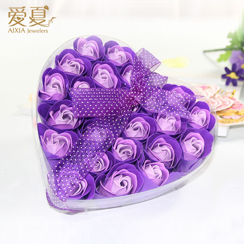 Buy Heart Shaped Gift Rose Soap Flower Bouquet Ideas Female Students To Send His Girlfriend A Birthday Romantic Confession In Cheap Price On