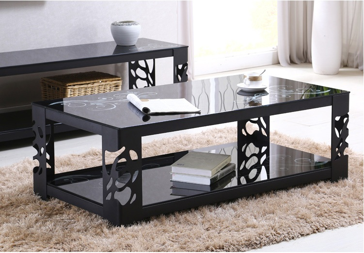 Buy Home Hongjin Wrought Iron Coffee Table Glass Coffee