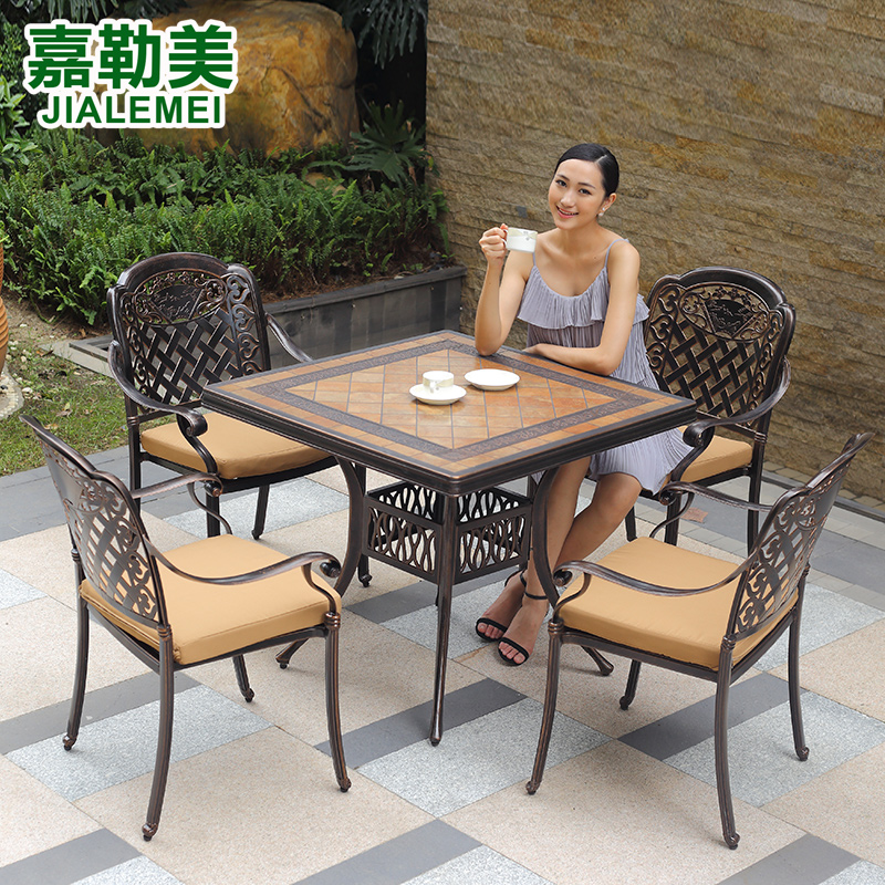13d072419fb5 Jiale us outdoor furniture leisure furniture wujiantao combination of wrought  iron garden tables and chairs cast aluminum outdoor patio balcony furniture