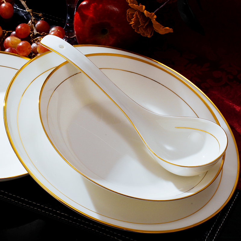 Buy Jingren-white gold upscale jingdezhen 58 bone china dinnerware set-korean rice bowl dish set- Gift pack in Cheap Price on m.alibaba.com : white bone china dinnerware sets - pezcame.com