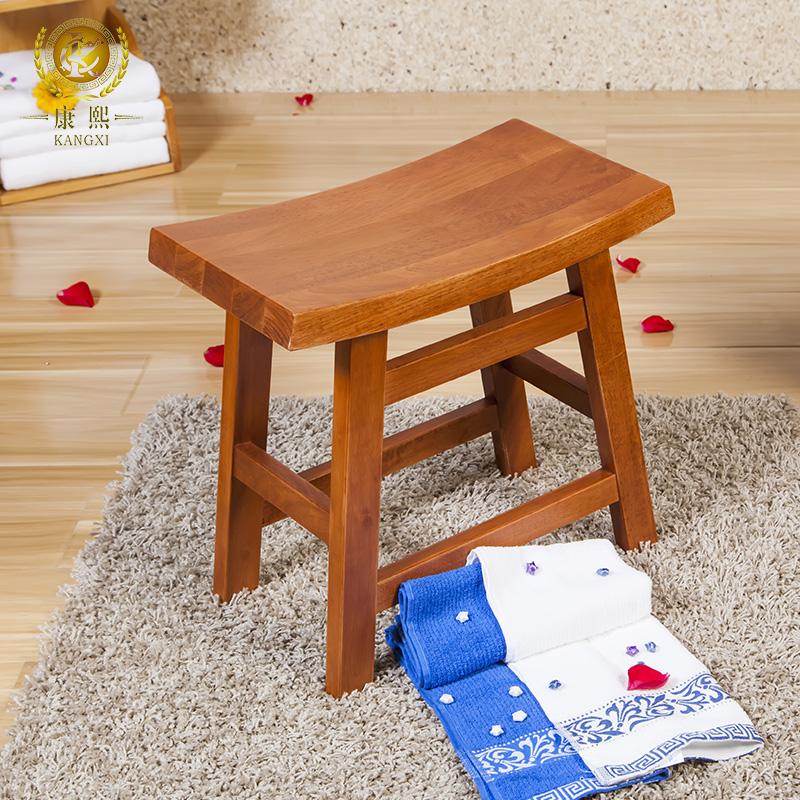 Buy Kangxi oak wood stool stool stool vanity benches bathroom stool ...