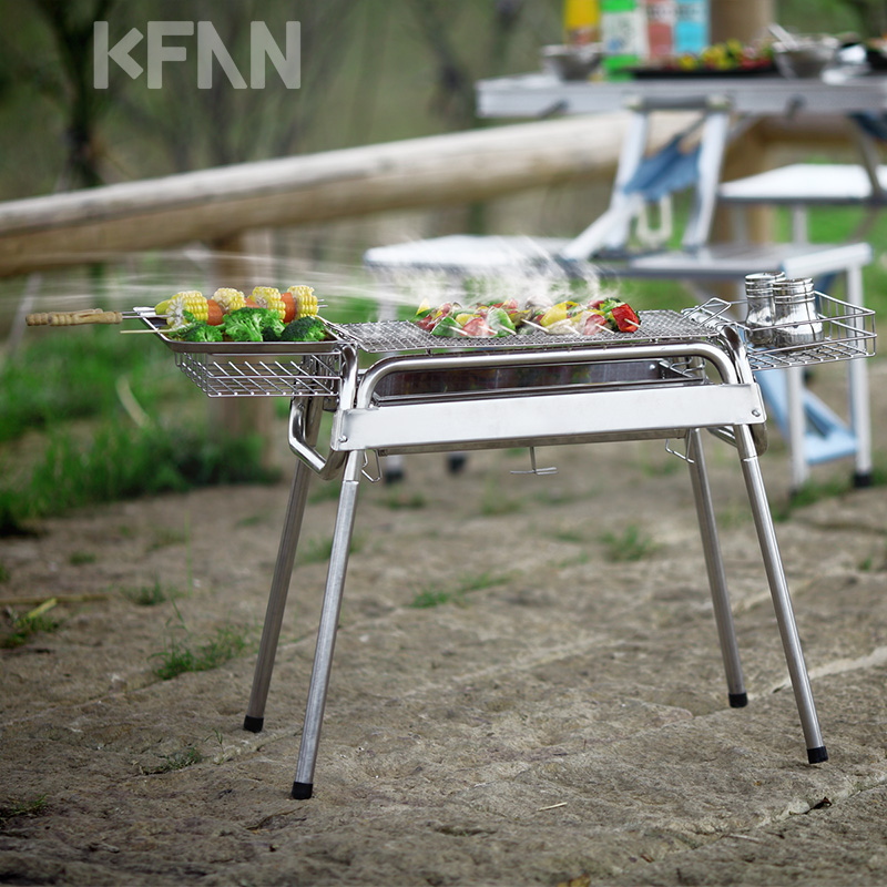 Inspirational Buy Kfan grill home outdoor portable barbecue grill grilled barbecue supplies stainless steel barbecue grill tool kit in Cheap Price on mibaba Plan - Cool portable barbecue grill Minimalist