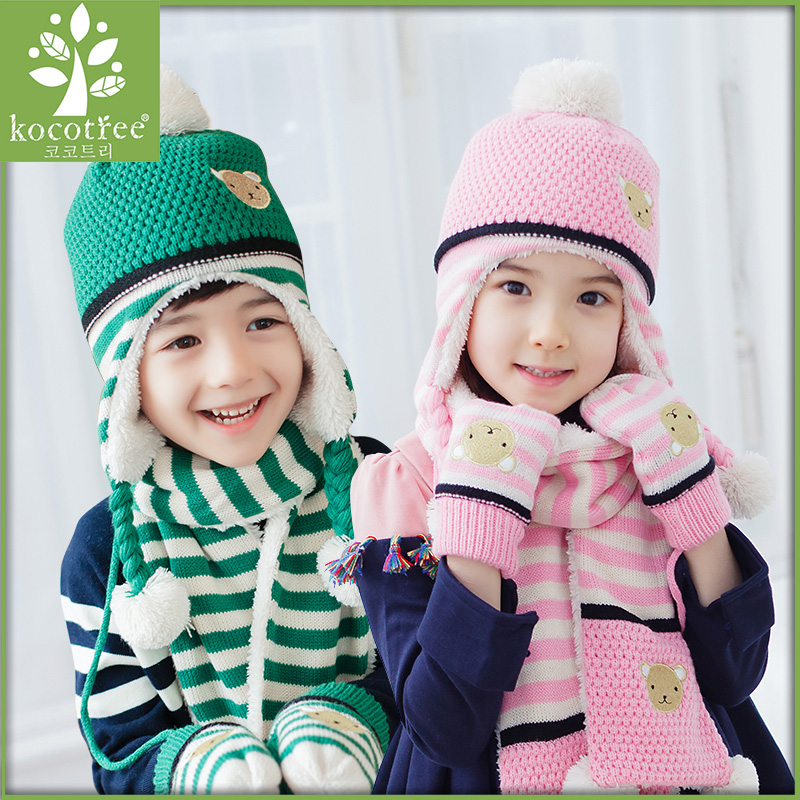 894348e8 Korea kk tree child hat dongkuan 2-4-8 years old boys and girls baby hats  scarves winter hats and cashmere winter