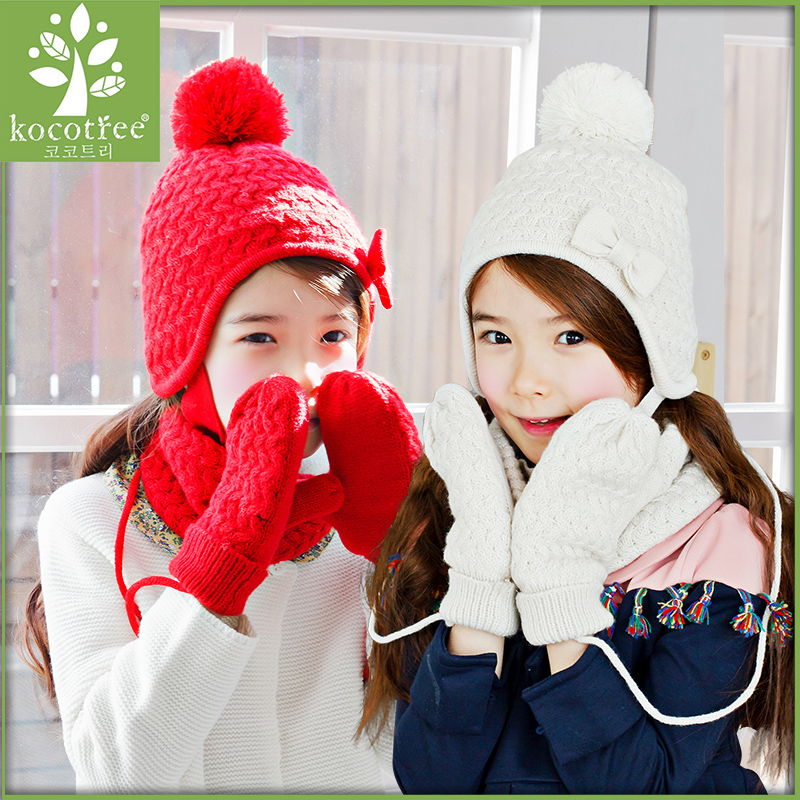 Buy Korea kk tree child hat scarf ear warm hat scarf gloves three sets of  boys and girls in child tide in Cheap Price on Alibaba.com 3419f7eb841c