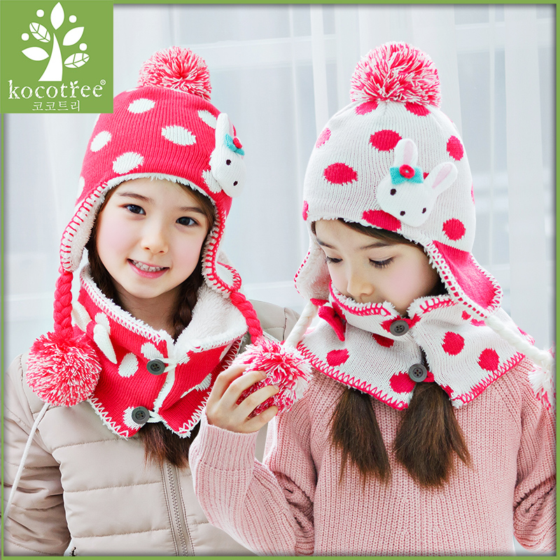 Buy Korea kk tree fall 2015 new children  39 s clothing girls fall and winter  hat scarf piece ladies princess cap plus velvet ear cap tide in Cheap Price  on ... da2a7bc38654