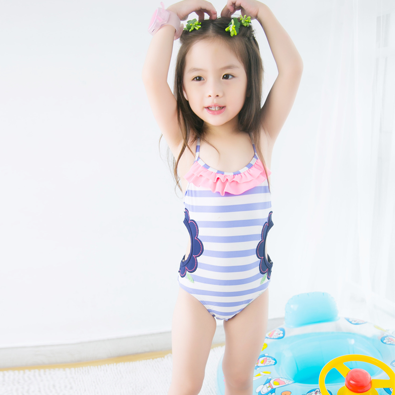 b27637eb0f Buy Korean children's swimsuit girls cute baby girl striped swimsuit  piece swimsuit girls big virgin princess in Cheap Price on m.alibaba.com
