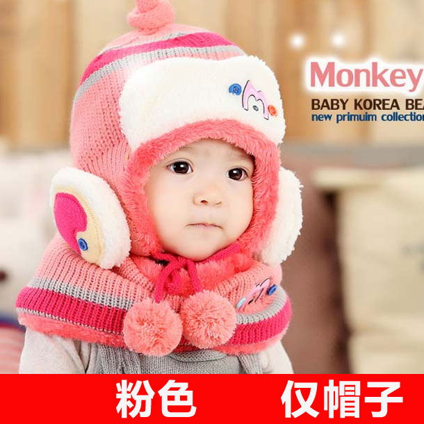 25e8e3c611e5e Buy Korean fashion winter wool hat baby hat children boys and girls plus  balaclavas ear cap beanie hats for children care in Cheap Price on  m.alibaba.com