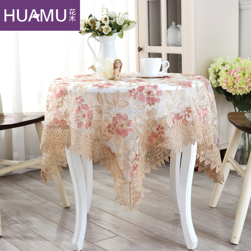 Small Round Table Cloths.Buy Korean Round Flowers Flower Embroidery Lace Tablecloths Pastoral