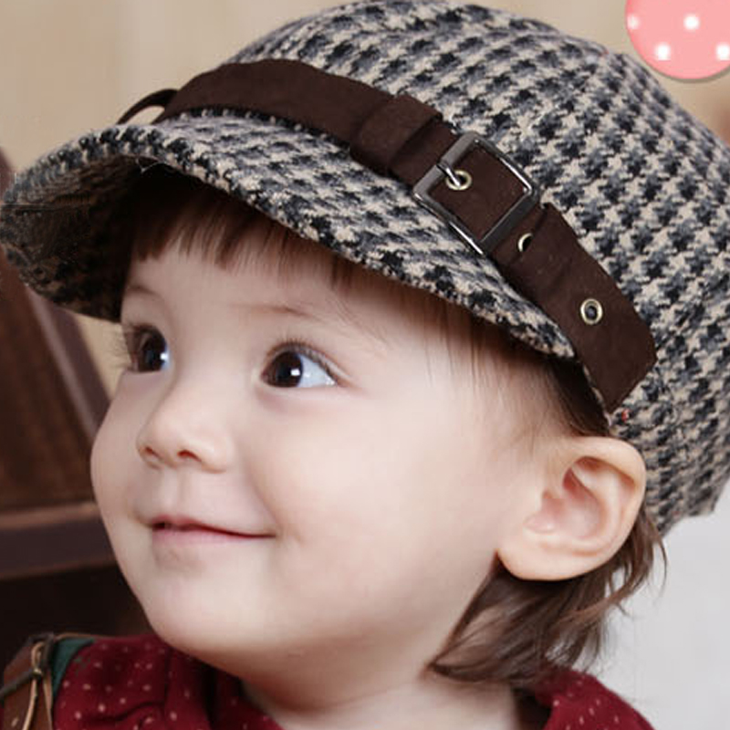 8ebed903ea5 Korean version of the autumn and winter wool beret cap fashion hat winter hat  baby hats for men and women short brimmed hat children