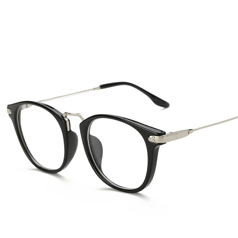 d98a98354cc Korean version of the retro glasses frame female models lightweight frames  male myopia glasses with full frame round plain mirror frame eye box tide