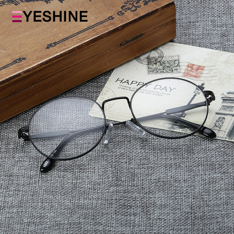 7aa22ef64a Korean version of the retro male and female models lightweight full frame  metal plain mirror literary college wind round frame glasses frames with  myopia