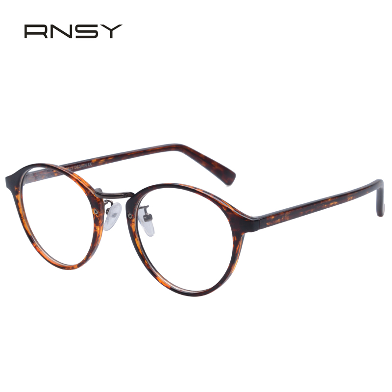 2e481df020 Korean version of the retro male and female models lightweight tr90 frame  full frame plain mirror literary college wind round frame glasses frames  with ...