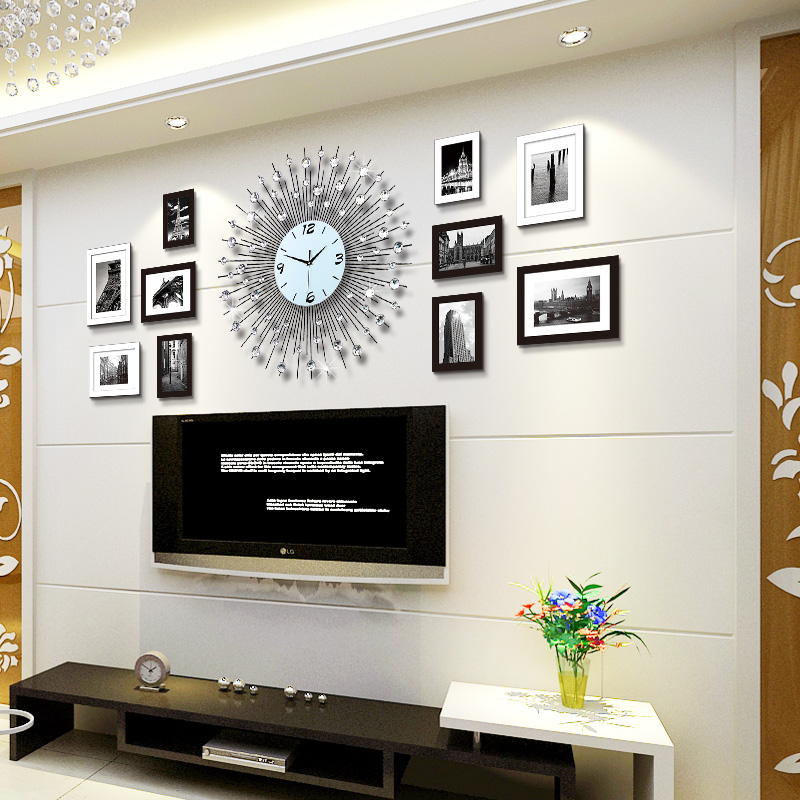 Buy Large living room wall clock up long creative arts ...