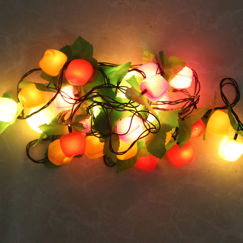 laurel christmas decoration supplies 3 m christmas lights christmas tree decoration pendant lights can flash light fruit