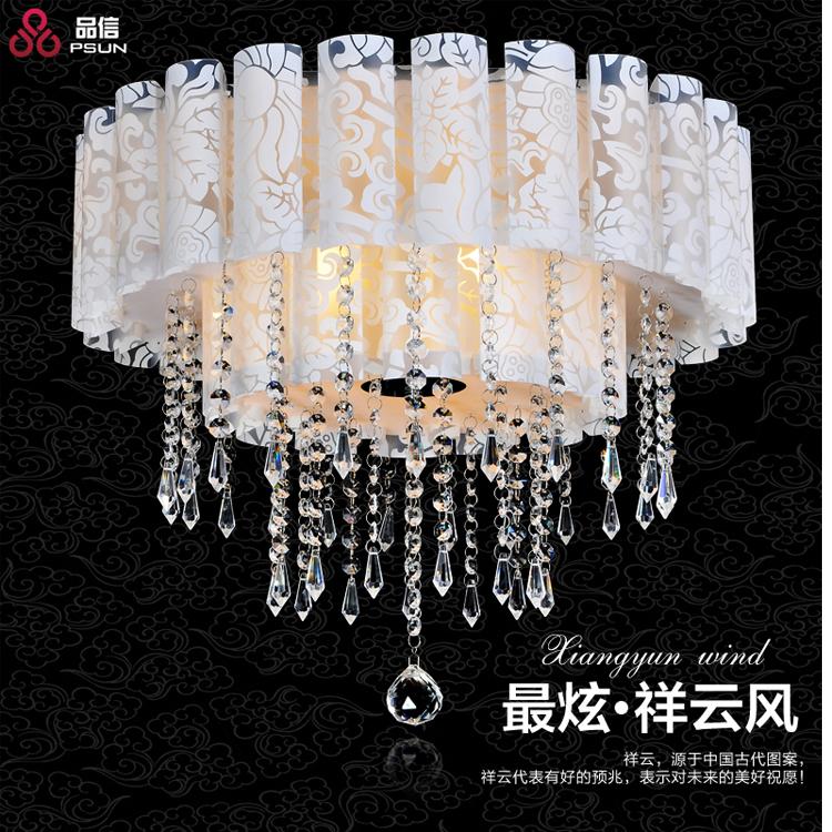 Ceiling Lights Ceiling Lights & Fans Led Crystal Ceiling Lamp Round Modern Minimalist Master Bedroom Lamp Warm Romantic Room Lamp Restaurant Lighting
