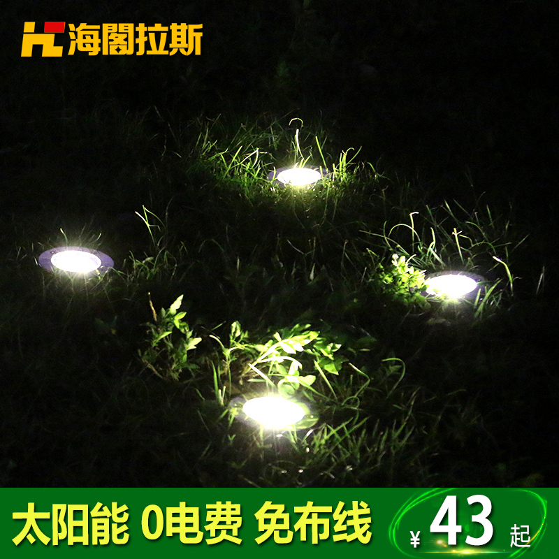 Buy Led Underground Lamp Waterproof Outdoor Solar Lawn Lights Garden Lights  Plug Inserted Landscape Buried Lights Embedded Round In Cheap Price On ...