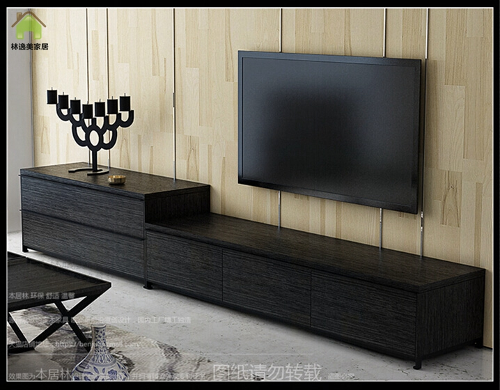 Buy Lin Yi Us Nordic Minimalist Black Oak Tv Cabinet Tv Cabinet Modern  Minimalist Tv Cabinet Tv Cabinet Group In Combination Coffee Table Tv  Cabinet In ...