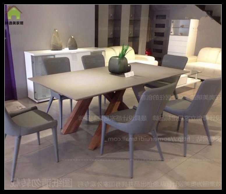 Buy Lin Yi Us Nordic Minimalist Wood Dining Table Walnut Color Wood - Walnut color dining table
