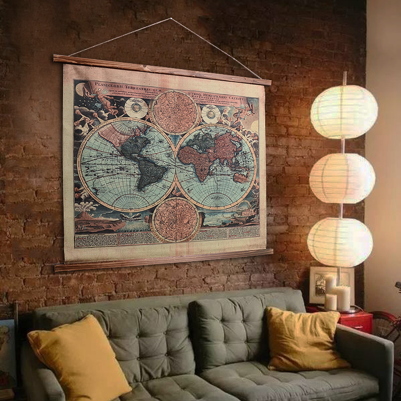 Buy Linen american retro home decorative paintings den wall wine bar ...