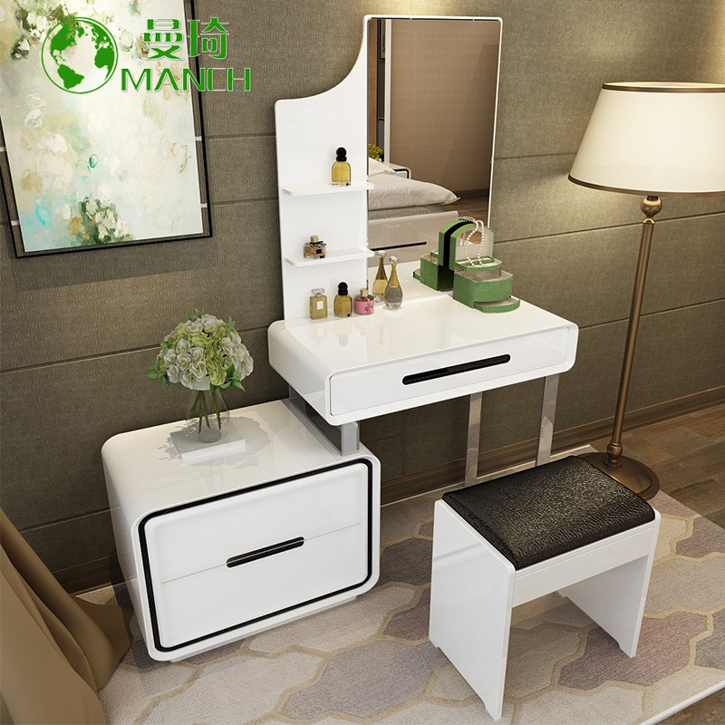 Elegant Manqi Multifunction Minimalist Bedroom Dresser Dressing Table Dressing  Table Dressing Table Paint Makeup Vanity Dressing Table Cabinet Plate