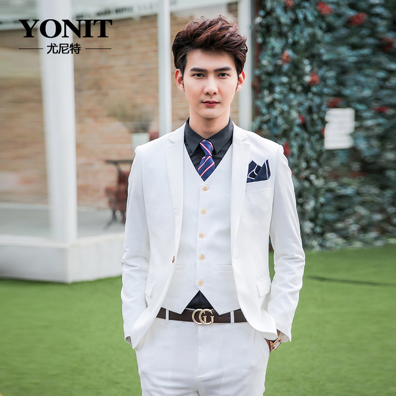 Buy Autumn men's wedding suits groom groomsmen dress suits men ...