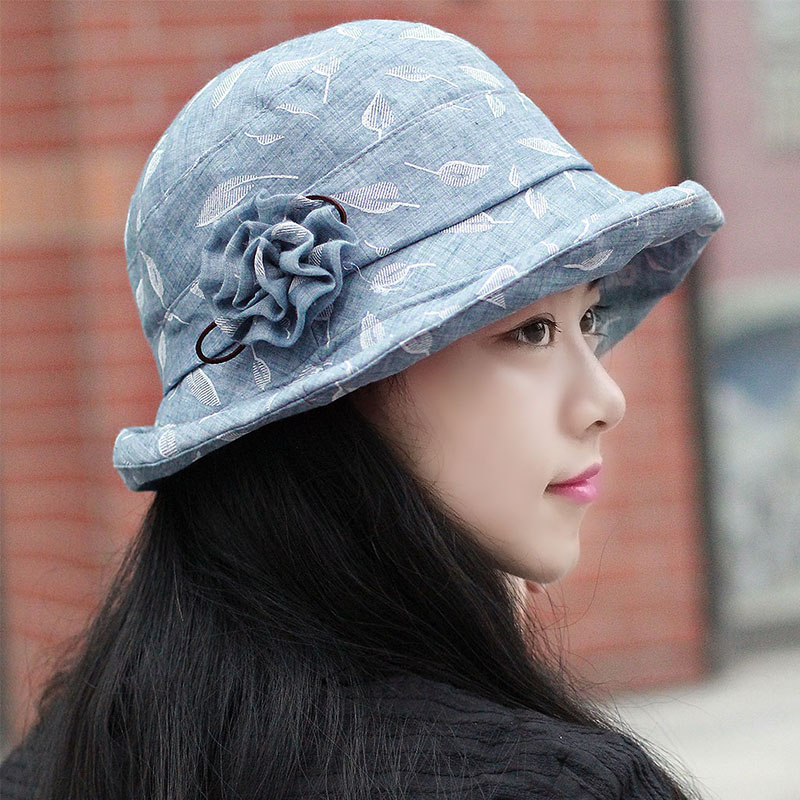 ab706c0a Buy Middle-aged ladies fashion hats bucket hats hat female korean floral  face significant small hat lady painter cap hat in Cheap Price on  m.alibaba.com