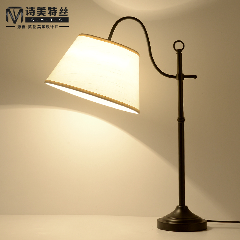 Modern minimalist fashion creative personality bedside lamp bedroom lamp  ikea bedside lamp warm living room marriage