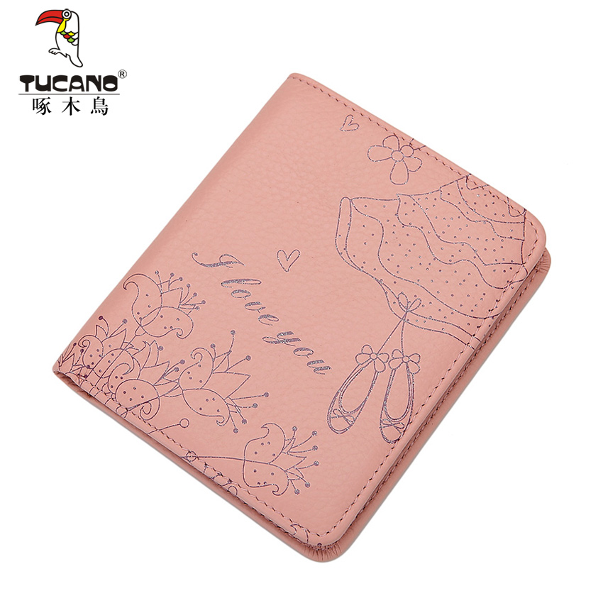 005419035fbd Buy Ms. woodpeckers genuine leather wallet genuine cowhide soft leather  embossed wallet short paragraph wallet purse korean version of the vertical  section ...