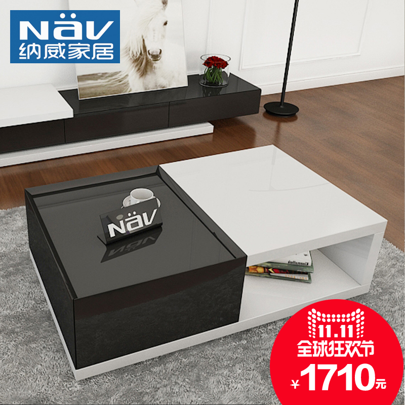 Buy Na U0026#39;vi 1.2 M Black And White Rectangular Coffee Table Paint Small  Apartment Modern Minimalist Fashion Coffee Table Table Table TB506 In Cheap  Price ...