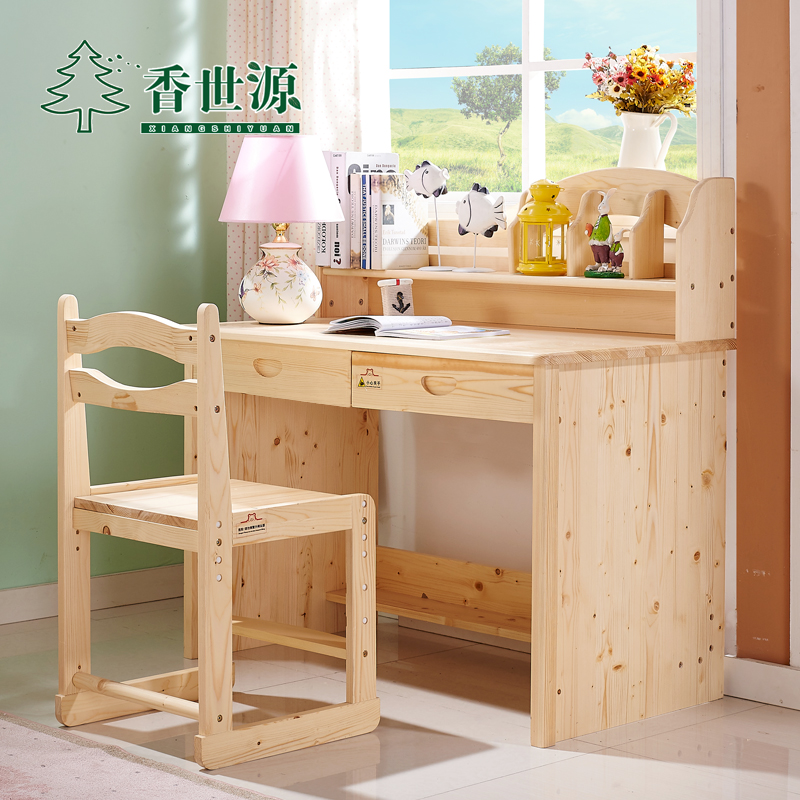 1ed33b46179 Buy Pine wood study tables for children pupils desk desk multifunctional  children  39 s desk writing desks and chairs set in Cheap Price on  m.alibaba.com