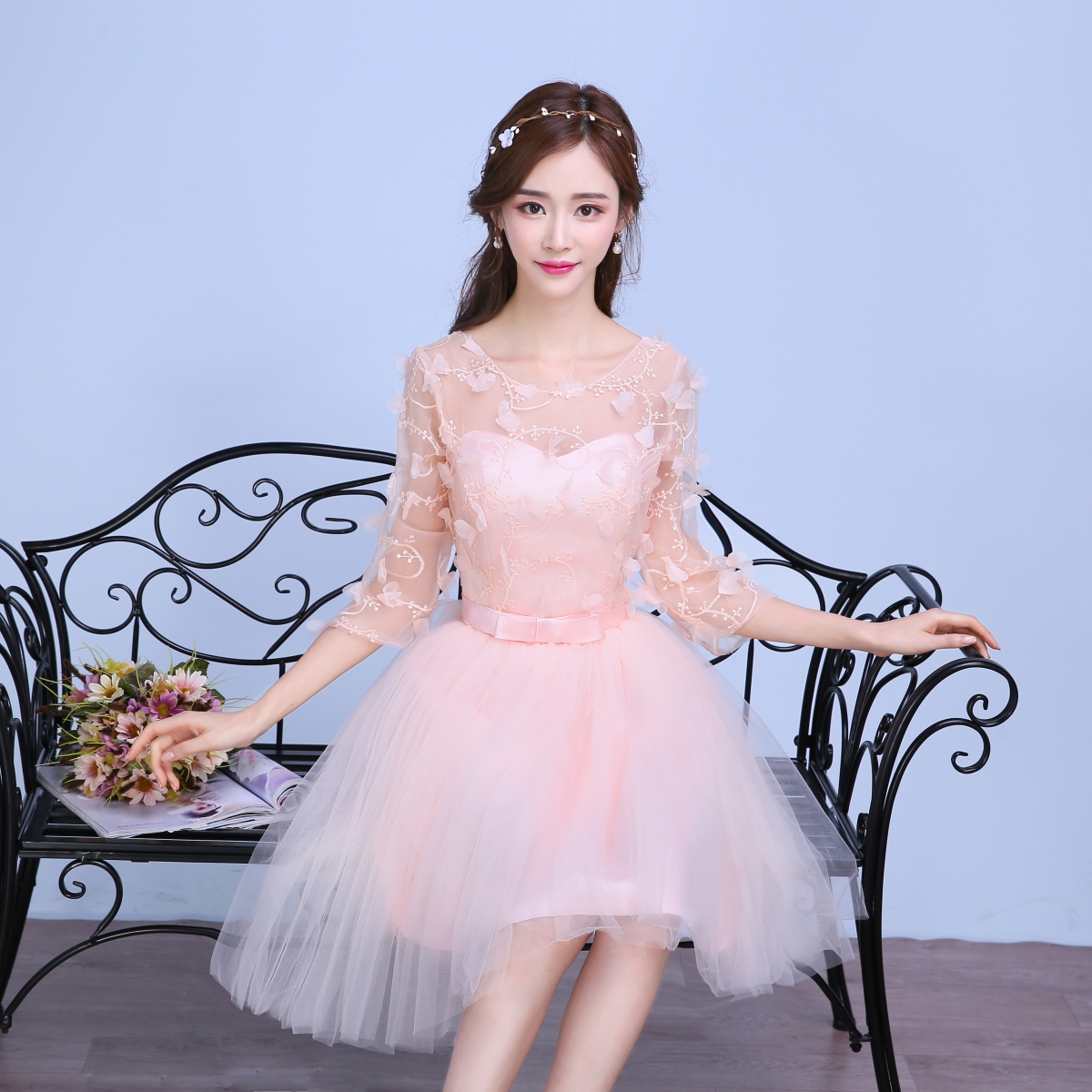 1241bc3fd1588 Buy Pink bridesmaid dress short paragraph 2016 new korean mission ...