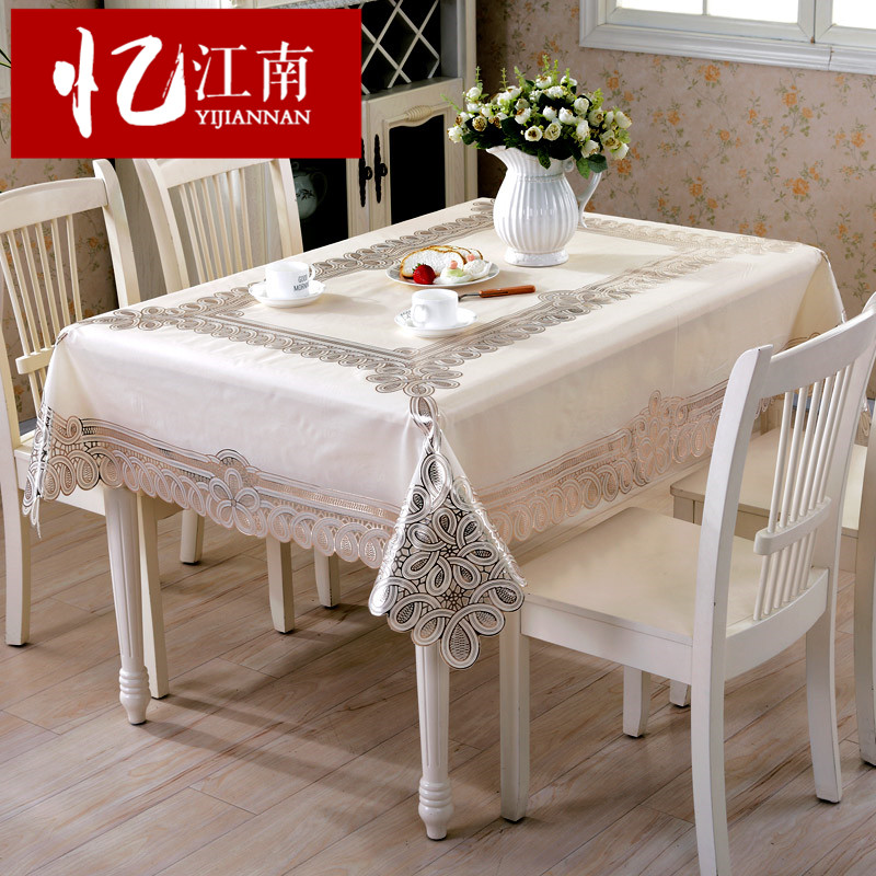 17db468a5f2 Buy Pvc waterproof disposable plastic tablecloths pastoral coffee table  cloth table cloth soft glass taiwan arming oil mat coffee table mat in  Cheap Price ...
