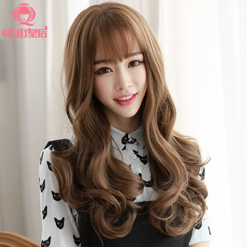 Buy Queen Seven Streets Wig Female Long Hair Fluffy Wig Long