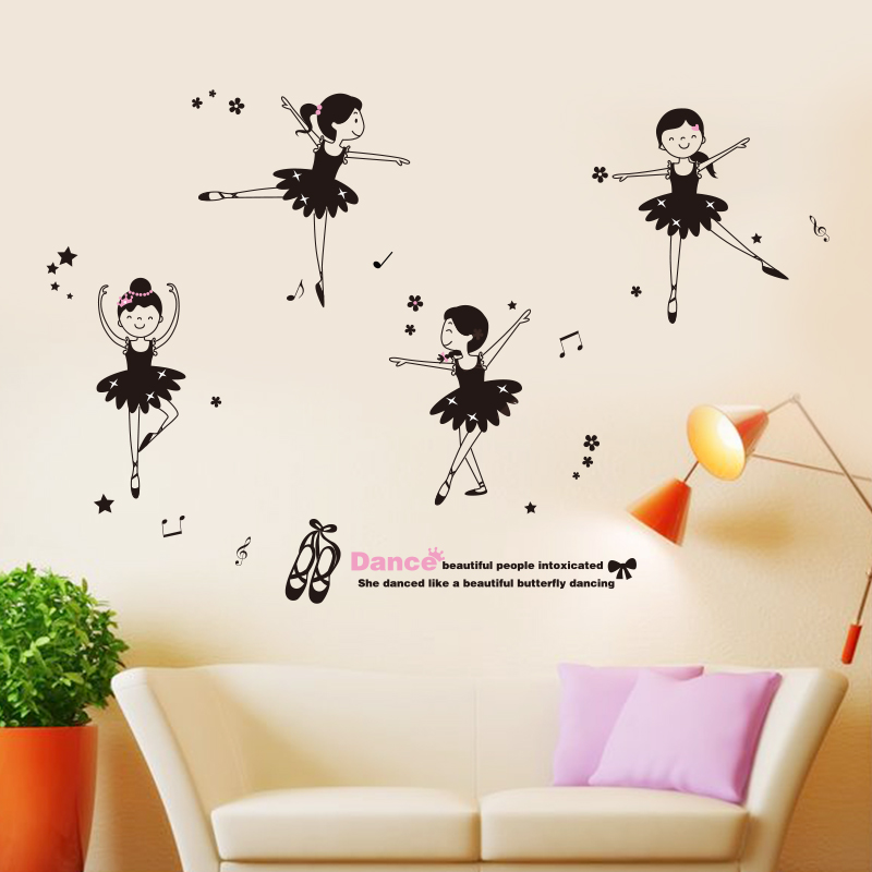 Buy Removable Wall Stickers Klimts Dance School Classroom Decor Paintings Of Ballet Girl Music Art In Cheap Price On Malibaba