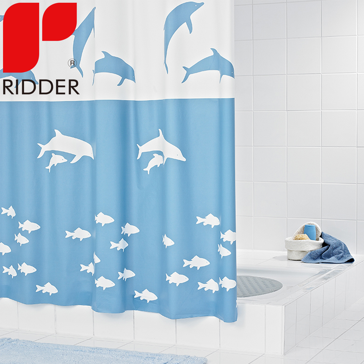 Buy Ridder Import Cartoon Dolphin Shower Curtain Eva Thick