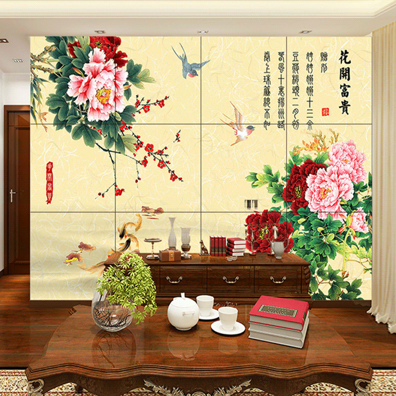 Buy Sela wei chinese tile backdrop tv background wall living room ...
