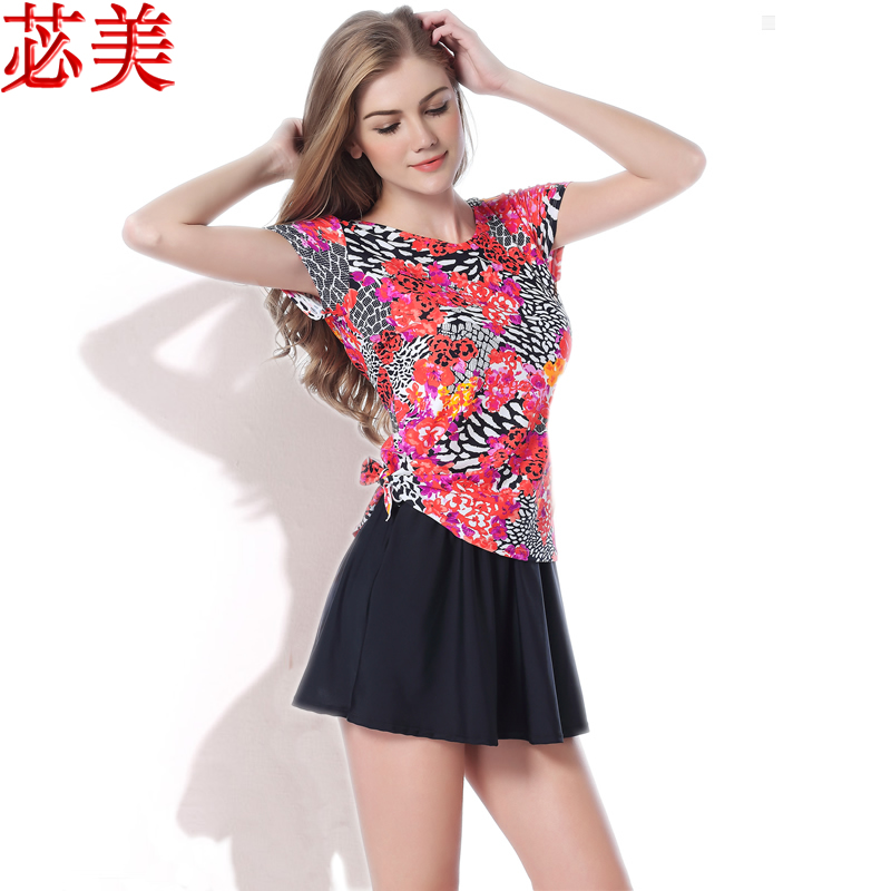f8aff7bcdad2a Buy Ms. conservative swimsuit hot springs bathing suit big yards in the elderly  siamese boxer swimsuit women swimwear swimsuit in Cheap Price on m.alibaba.  ...