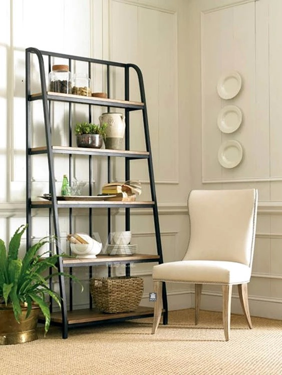 Simple And Modern Loft Style Wrought Iron Wood Shelving Home Fashion Shelf Rack Floor In Price On M Alibaba