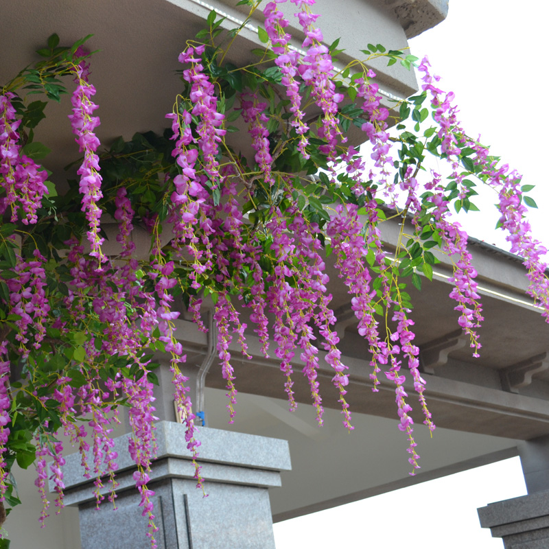Buy simulation flower vine flower decoration flower plastic flower buy simulation flower vine flower decoration flower plastic flower vine wisteria curd hanging rattan cane artificial flowers artificial flowers silk flower mightylinksfo