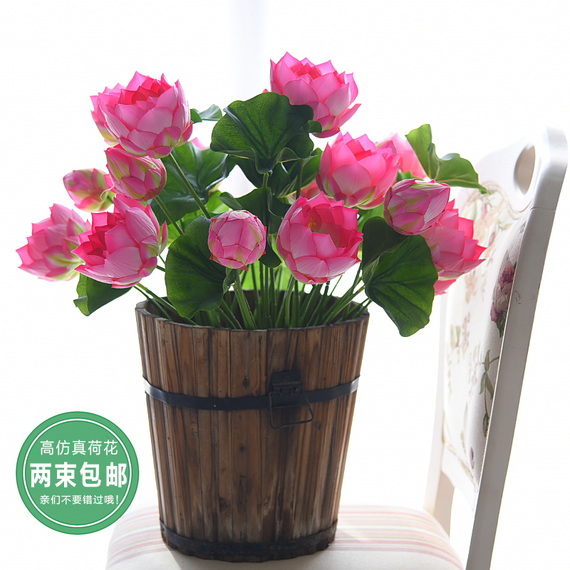 Buy simulation lotus flower lotus water lily flowers buddha plastic buy simulation lotus flower lotus water lily flowers buddha plastic floral living room table decoration artificial flowers silk flower home decor in cheap mightylinksfo