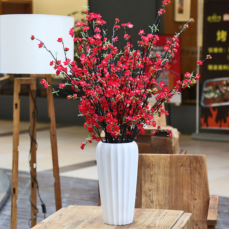 Buy Single Branch Red White Pink Peach Blossom Inserted Simulation