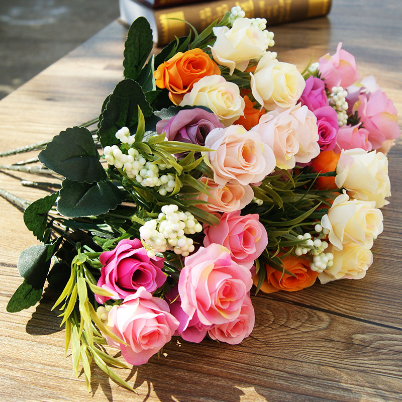 Buy small roses simulation silk flower artificial flowers dried buy small roses simulation silk flower artificial flowers dried flowers artificial flowers floral living room furnishings valentine rose bouquet of plastic mightylinksfo