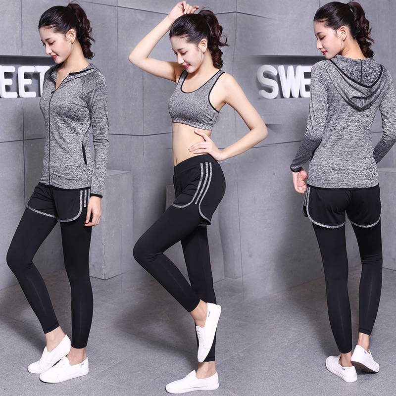 523db100b3552 Buy South korean sports suit female gym yoga clothes fall and winter ...