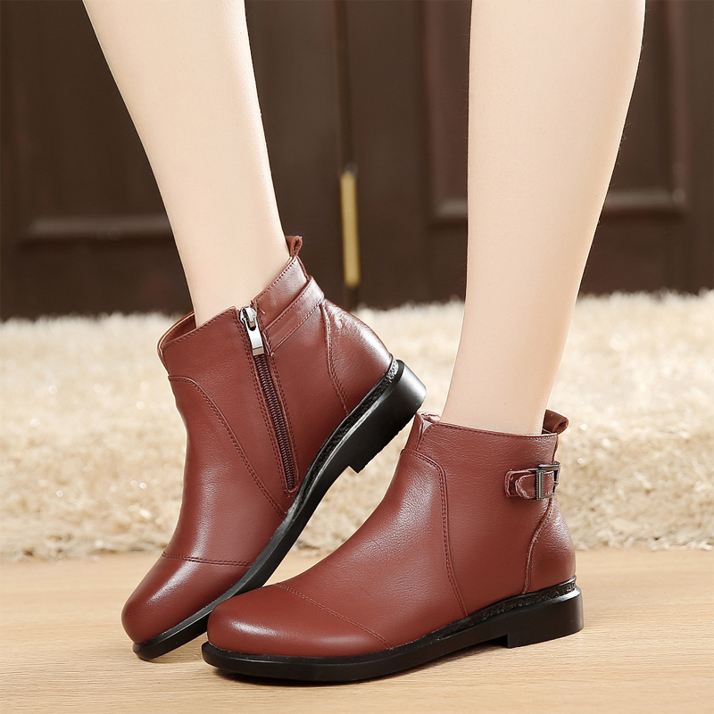 9873cff26ff1 Buy Spring spring and autumn martin boots women  39 s singles short boots  flat boots flat heel boots leather boots duantong women  39 s boots and  ankle ...