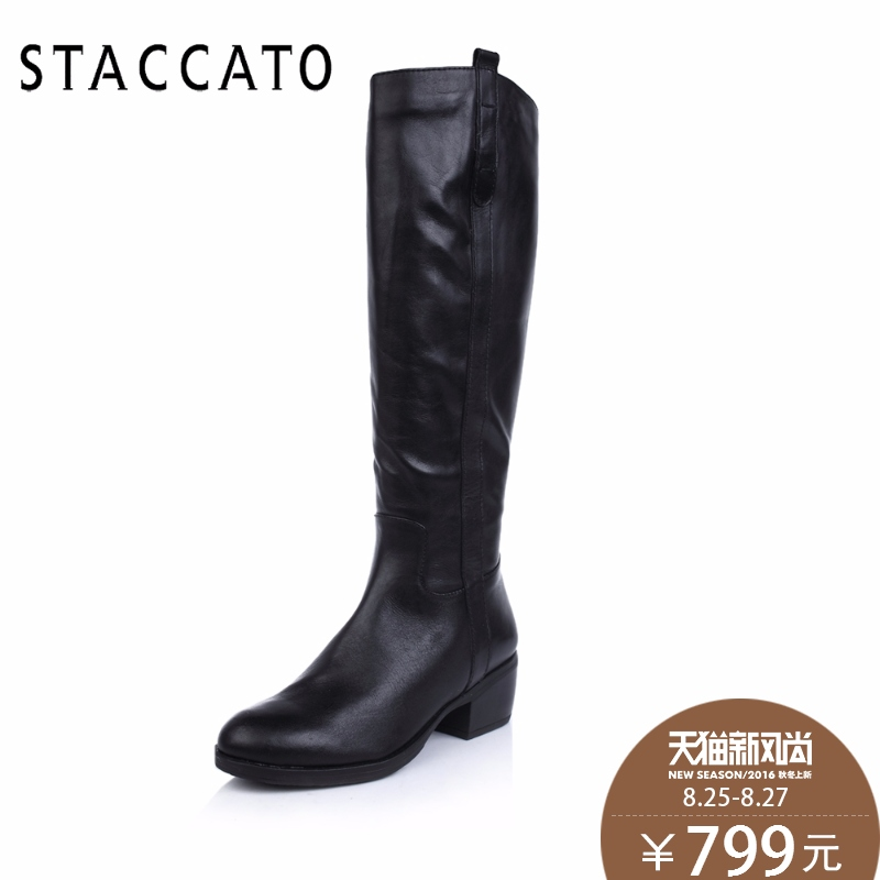8b450a7daf01 Staccato staccato winter 9BM03DC3 waxed leather boots tall canister round  female boots