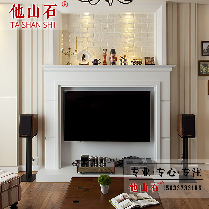 Stone Carving Stone Fireplace Marble Fireplace Mantel Modern American Style  Tv Cabinet Fireplace Fireplace Decoration Cabinet Europe