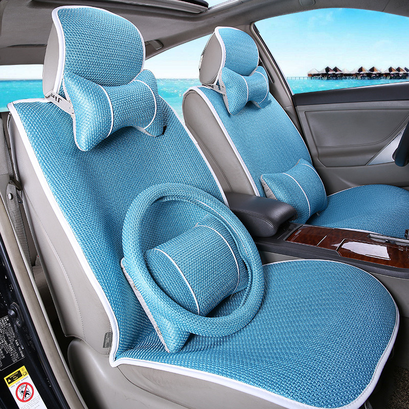 Buy Cool New Summer Ice Silk Car Seat Cover Seat Cover Sets Four