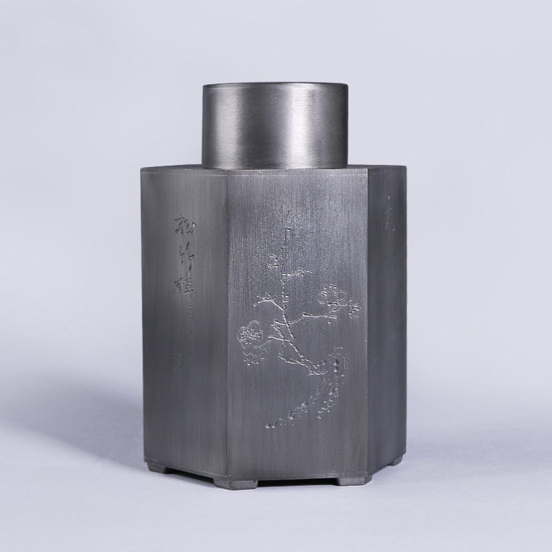 Tea Caddy Handmade Pottery Cubic Gift Tin Cans Sealed Large Storage Tank Pu 39 Er Leaf In Price On M Alibaba